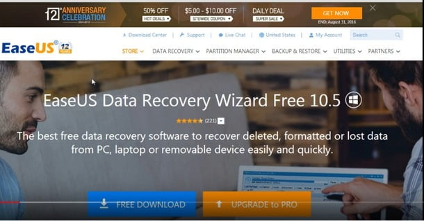 EASEUS data recovery software for pc