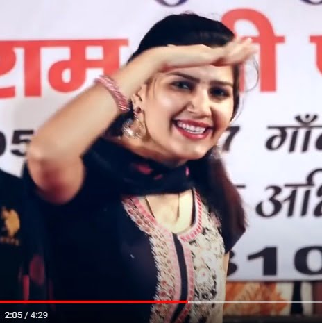 sapna chaudhary outdoor dance photo in black suite