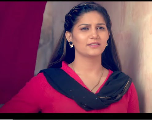 sapna chaudhary photo in red suite