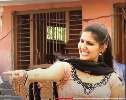 sapna chaudhary outdoor dance photo in brown suite