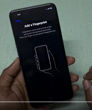 fingerprint lock and face unlock features setup in realme & redmi mobiles-2020