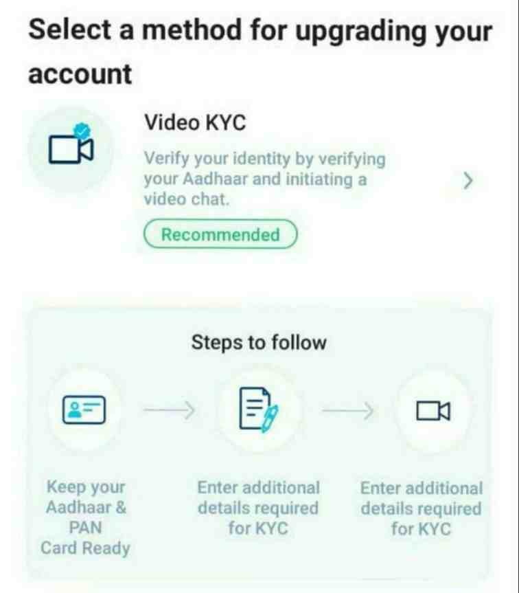 paytm video call kyc